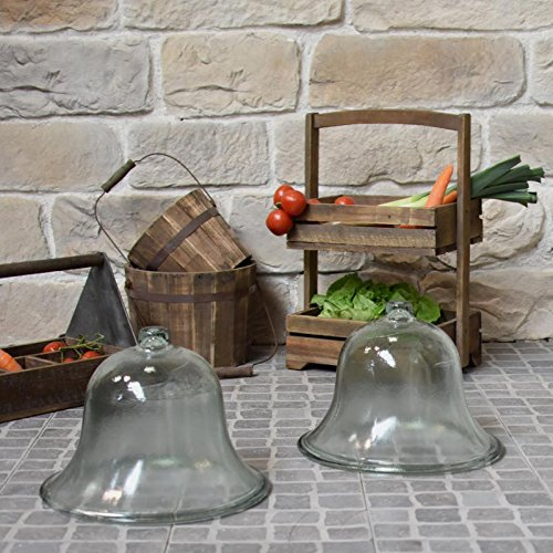 chemin_de_campagne 2 Grandes Cloches de Jardin Salade Melon Verre ø 38 cm