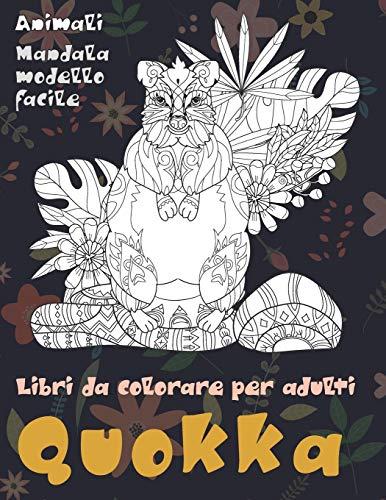 Libri da colorare per adulti - Mandala Modello facile - Animali - Quokka