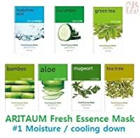 ARITAUM Fresh Essence Mask x 7 Sheet (#1 Moisture / Cooling down) by ARITAUM [並行輸入品]