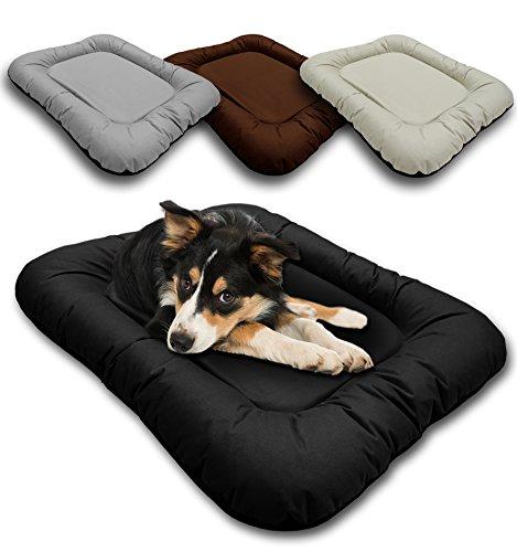 Chien Chien Großes Haustierbett Blacky für Hunde, Hundesofa Braun mit abnehmbaren Bezug, Modernes Hundebett Größe XL 118 x 85 cm