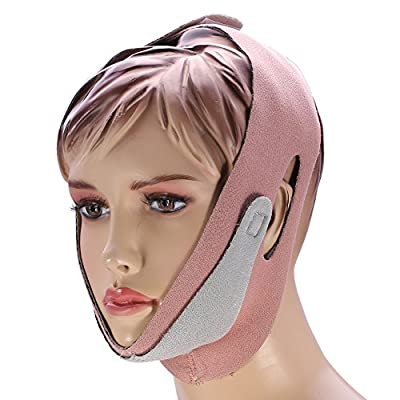 Face Lifting Mask, Facial Thin Lifting Belt Anti Snoring Band Strap Chin Support Bandage for Skin Lifting Firming Anti Aging from Canyita