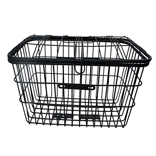 Best Review Of Yuehjnba Bicycle Basket Large Steel Mesh Bicycle Basket Rear Wire Rack Fit Bike Fixed...