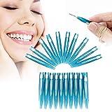 Interdental suave, palillos dentales cepillo de dientes cabeza interdental palillos para el cuidado oral 20pcs