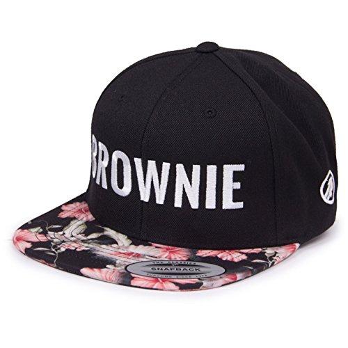 "Vogel.Wuid Damen-Cap, Aufschrift ""Brownie"", Motif fleurs"