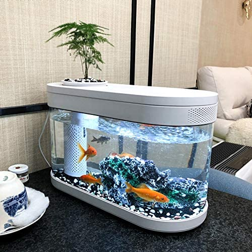 DOCEAN Fish Tank Garden Aquarium Kit with LED Lighting Plant Siphon Pot for Home Office School product image