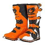 O'NEAL | Botas de Motocross | Enduro de Motocicleta | Paneles de plástico moldeados por inyección, hebillas de fácil ajuste, interior de malla de aire | Bota RIDER EU naranja | Naranja | Talla 43/10