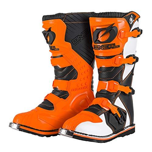 O'NEAL | Stivali Motocross | Moto Enduro | Pannelli in plastica stampati ad iniezione, fibbie facili da regolare, interno in Air-Mesh | RIDER Boot EU Orange | Arancione | Taglia 43/10