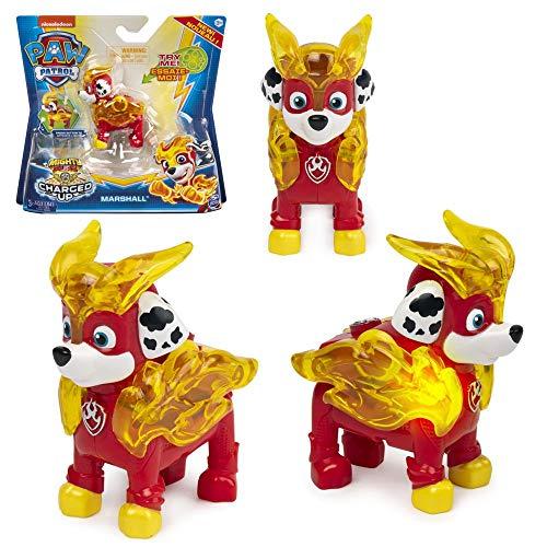 Spin Master Mighty Pups | Selección Deluxe Figura con luz | Paw Patrol | Patrulla Canina, Figura:Marshall
