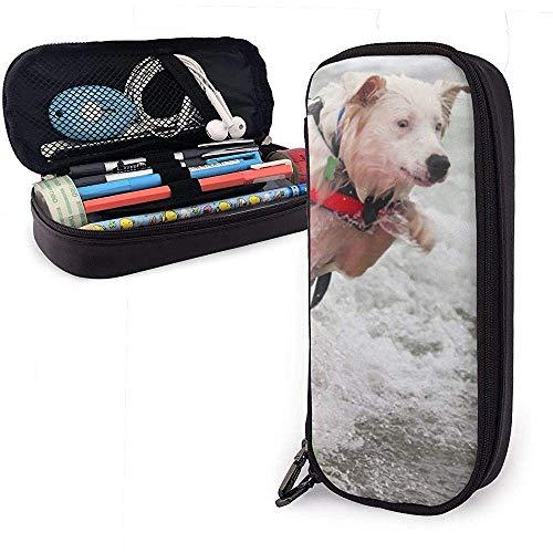 Hund Surfen große Kapazität Lagerung Marker Fall Stifthalter, Kosmetik Make-up Tasche, Briefpapier Veranstalter Bleistiftbeutel