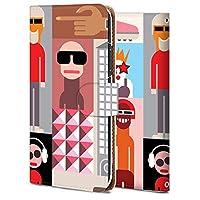 iPhone 8 plus ケース 手帳型 アイフォン 8 plus カバー スマホケース おしゃれ かわいい 耐衝撃 花柄 人気 純正 全機種対応 抽象画-都市の人々 ファッション 9750150