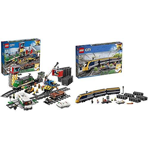 LEGO City 60198 Tren De Mercancías, Juguete con Motor y Control Remoto...