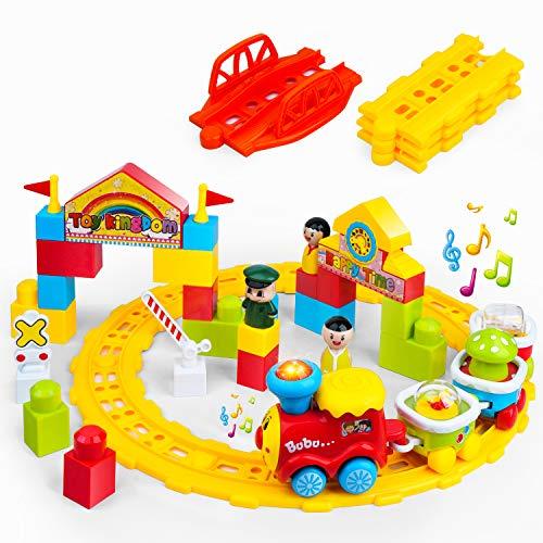GizmoVine Jouet pour Enfant De 2 an Petit Train Set Rail Voiture Ensemble De Train pour Enfant Garçons Filles