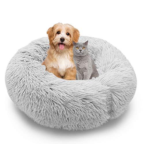 MMTX Cama Perros Redonda Cojín Gatos Sofá para Perros Donut Suave Cama Mascotas Calentito Lnvierno Felpa Gato Dormido Cama Pequeña Perro Cama Lavable Resbalón Prueba