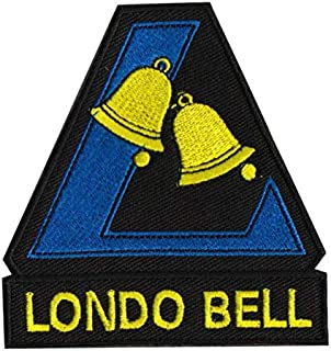 Mobile Suit Gundam Londo Bell 3D Tactical Military Badges Embroidered Patch Back with Loop and Hook