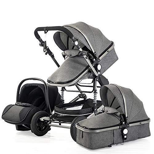 XYSQ Sistema De Viaje 3 En 1, Cochecito De Bebé, Sistema De Viaje para Bebés, para Bebés 3 En 1 Sistema De Viaje De Carruaje para Bebés Infantiles Portátiles, con Soporte para Biberones, Mosquitera