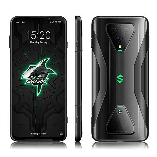 Black Shark 3 8GB 128GB Gaming 5G Phone 6.67 Pouces, Android 10 Snapdragon 865 Téléphone Mobile débloqué, 270HZ Taux de rapports tactiles, Téléphone Intelligent avec Triple caméra de 64MP, Noir
