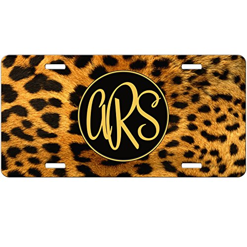 Simply Customized Personalized License Plate Monogram Cheetah Leopard Print Animal License Plate Car Auto Tag Aluminum PLP