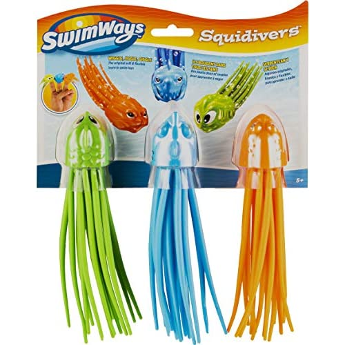 Swimways Calamari Subacquei SquiDivers Confezione da 3, 6046822