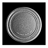 YooSz Microondas Horno De Vidrio Turnato De Placa Giratoria Diámetro 24,5 Cm Chasis Plano Microondas Horno De Vidrio Accesorios De Placa De Microondas Bandeja De Cristal De Tocadiscos