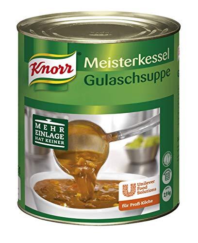 Knorr Meisterkessel Gulaschsuppe (servierfertig, authentischer Geschmack) 1er Pack (1 x 2,9 kg)