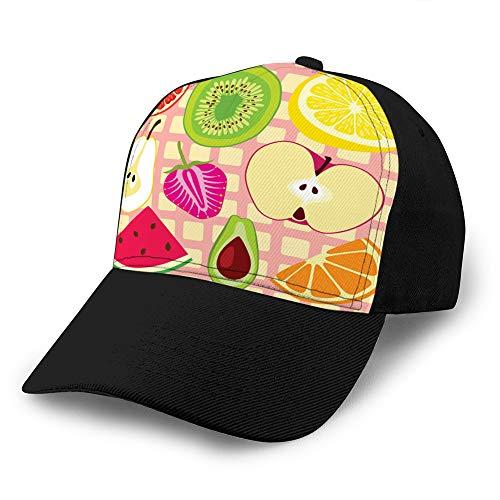 Adultes Football/Soccer Sports Casquette de Baseball (Taille Unique) Fruits Design Sun Hats