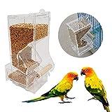 Comedero para Pájaros Avejon Canary Aviario Ventana transparente Alimentador de aves al aire libre para aves Contenedor de alimentación para alimentos Comedero pajaros exterior ( Size : Small )