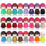 Set di smalti per unghie in flaconi a forma di bamboline, colori assortiti