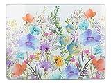 CREATIVE TOPS Protector de encimera de cristal, 40 x 30 cm, diseño de Flores