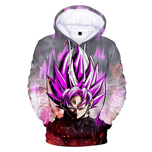 Hoodies,Pullover Unisex Anime Mens Dragon Ball Z Goku Hooded Plus Size Sweater Sweatshirt Purple S