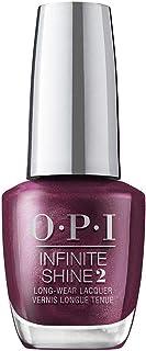 OPI Infinite Shine Nail Polish Dressed to the Wines, Purple Red, 15 ml