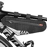 Bolsa para marco de bicicleta, triángulo de almacenamiento, impermeable, color negro para bicicleta de montaña, cycling bag bicicleta BMX