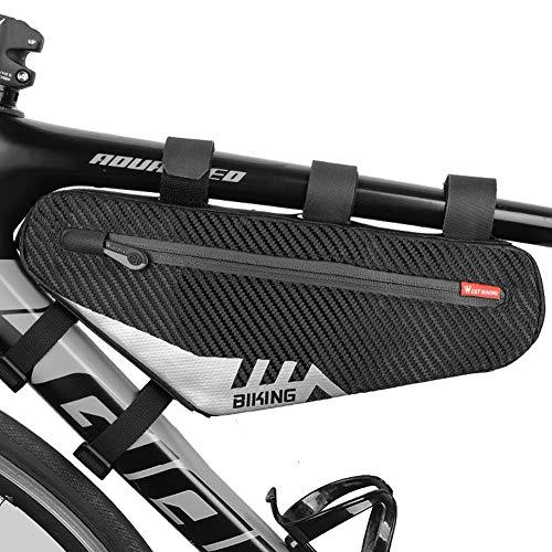 DINGZHAO - Borsa per telaio bicicletta, triangolare, impermeabile, colore: nero
