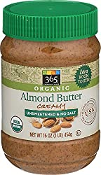 365 Everyday Value, Organic Creamy Almond Butter, Unsweetened & No Salt, 16 oz