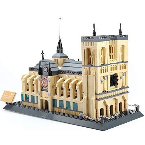 SXPC Weltberühmte Gebäude 3D Nano Block Notre Dame Kathedrale Paris Bausteine klassischen Wahrzeichen Modell Ziegel Spielzeug Kinder