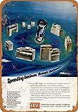 IBM Computing Machines Vintage Aluminum Metal Signs Tin