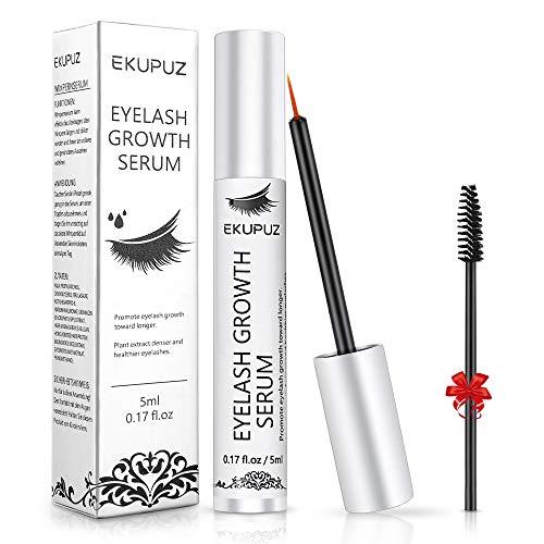 EKUPUZ Wimpernserum Augenbrauenserum für Starkes und Schnelles Wimpernwachstum Wimpernverlängerung Augenbrauen Serum für Mehr Länge Dichte - 5ML