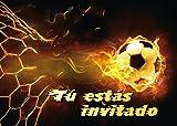 """Edition Colibri 12 Invitaciones en español """"Futbol"""" (Jgo. 2): Juego de 12 Invitaciones al Futbol para cumpleaños Infantil o Fiesta (10717 ES)"""