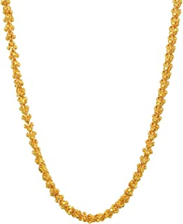 Gold Plated traditional designer trendy golden neck chain for women. stylish chain for Women and girl jewellery set in fas...