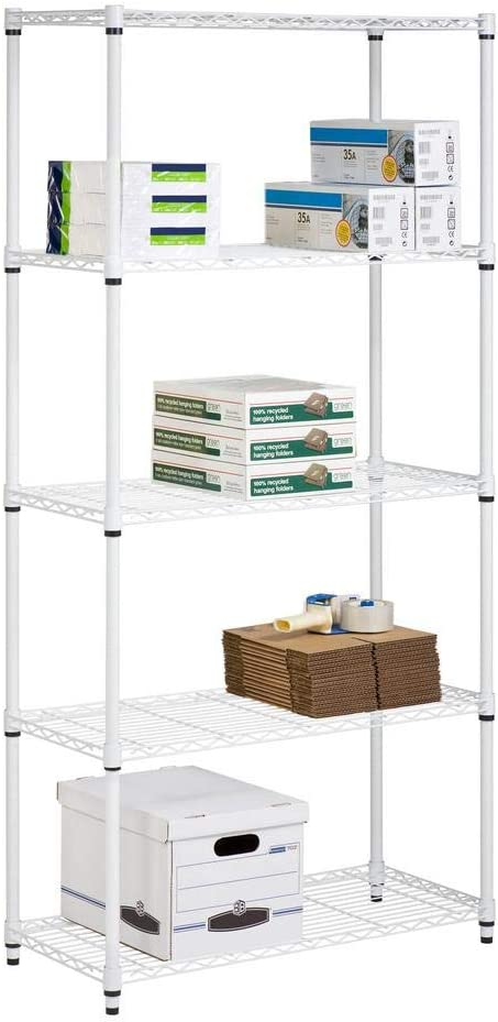 5-Tier Black Honey-Can-Do SHF-01442 Storage Shelving