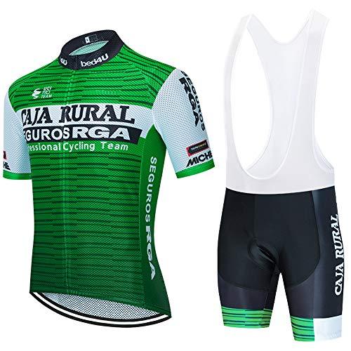 ZHXIAOX Trajes de ciclismo de verano para hombre maillots de manga corta y pantalones cortos de ciclismo con almohadillas de gel 3D
