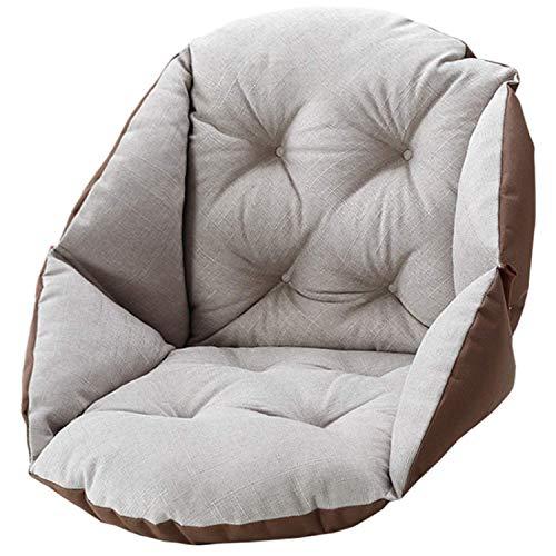 ARTBECK Chair Cushions Desk Seat Cushion Linen Thickening Chair Cushions Linen Relax Waist Backrest Seat Cushion Pad Winter Warm for Kids Office ( Khaki, Linen | 19Lx16Wx19H)