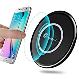 GreatCool Wireless Charger, 10W Fast Wireless Charger Charging Pad Stand(No AC Adapter) for Galaxy S9/S9 Plus Note 8/5 S8/S8 Plus S7/S7 Edge S6 Edge Plus (Black-Round)