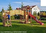 Spielandschaft FORTRESS-TipTop-Rainbow - Podesthöhe 145/125 cm mit 2,90 m Rutsche