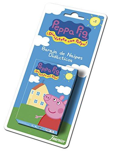 Fournier Peppa Wutz 175021 Kartendeck, Mehrfarbig