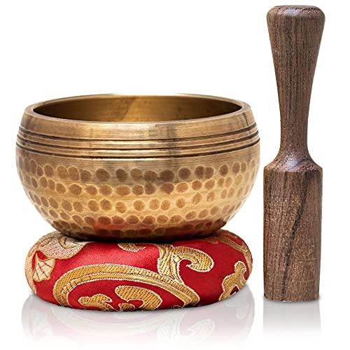 Tibetan Singing Bowls Set~ Meditation Sound Bowl hand Hammered in Nepal For Yoga, Meditation, Mindfulness, Healing & Chakra balancing~ (3 inch)