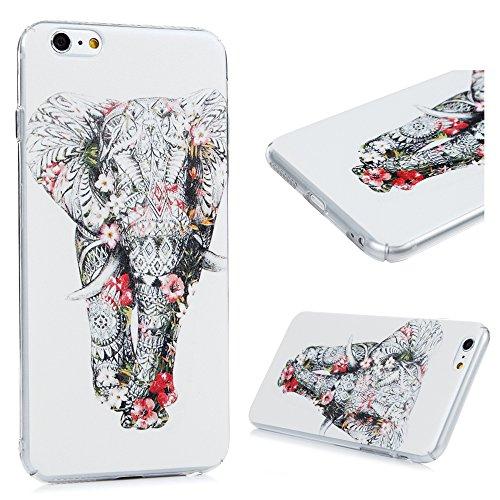 Lanveni - Custodia protettiva in PC per iPhone 6 Plus/iPhone 6S Plus, motivo: elefante