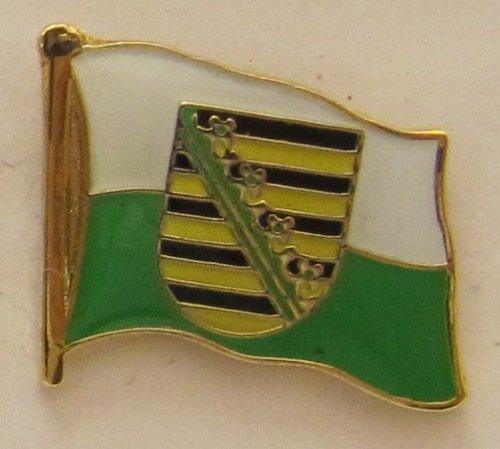 Pin Anstecker Flagge Fahne Sachsen Landesflagge Flaggenpin Badge Button Flaggen Clip Anstecknadel