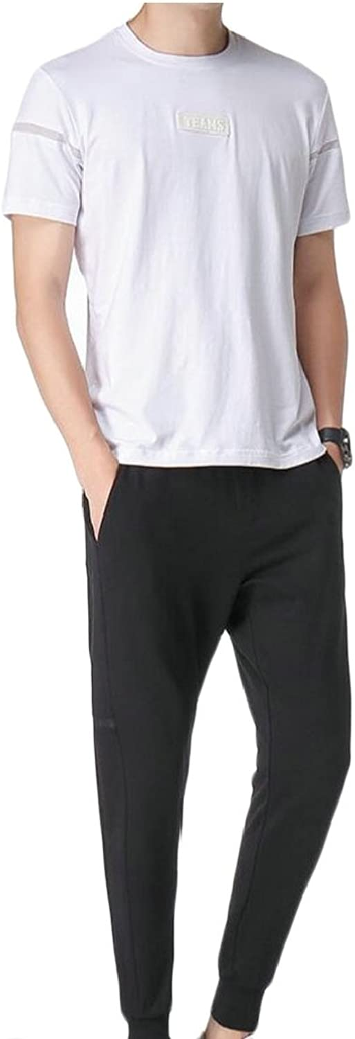 Gocgt Men Two Piece Short Sleeve Shirt and Pnts Outfit Sets