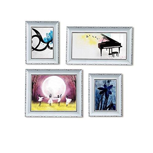 QX IAIZI Photo Wall fotolijst Combinatie 4 Stks Kunststof fotolijst Woonkamer Creatieve Muur - 55x 47cm fotolijst
