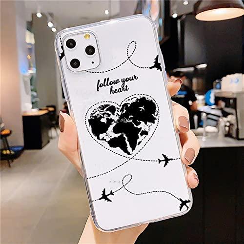 Funda para teléfono de Viaje en avión para iPhone XR XS X 12 11 Pro MAX SE 2020 6s 7 8 Plus Funda de TPU Transparente Suave de Silicona, 09, para iPhone 6 6s